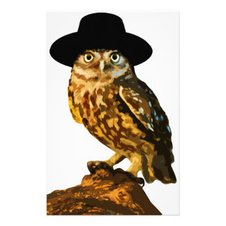 hipster wise owl sticker stationery