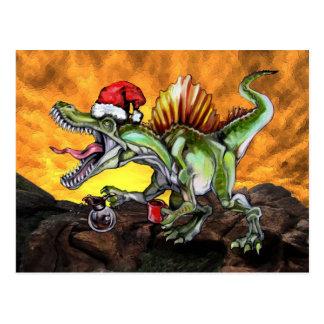 Hipster X-Mas Caffeinosaurus Postcard