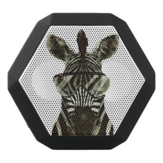 Hipster Zebra Black Bluetooth Speaker