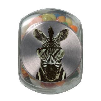 Hipster Zebra Glass Jars