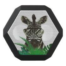 Hipster Zebra Style Animal Black Bluetooth Speaker