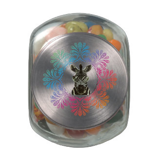 Hipster Zebra Style Animal Glass Jars
