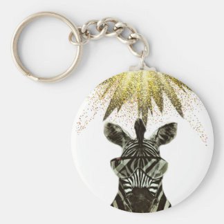 Hipster Zebra Style Animal Keychain