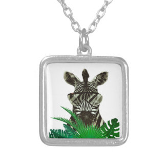 Hipster Zebra Style Animal Silver Plated Necklace