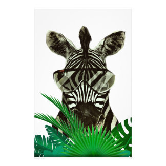 Hipster Zebra Style Animal Stationery