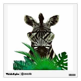 Hipster Zebra Style Animal Wall Sticker