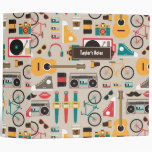 Hipsterrific Hipster Things Pattern (cinereous) Binder at Zazzle