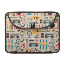 Hipsterrific Hipster Things Pattern (Cinereous) MacBook Pro Sleeve