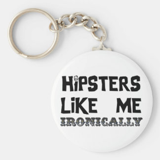 Hipsters Like Me Basic Round Button Keychain