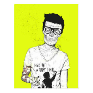hipsters not dead postcard