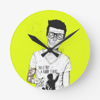Hipster's not dead round clock