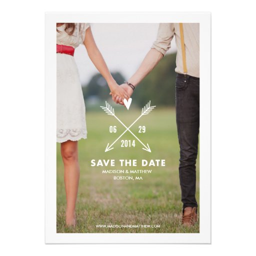 Hipsters | Save the Date Announcement (front side)