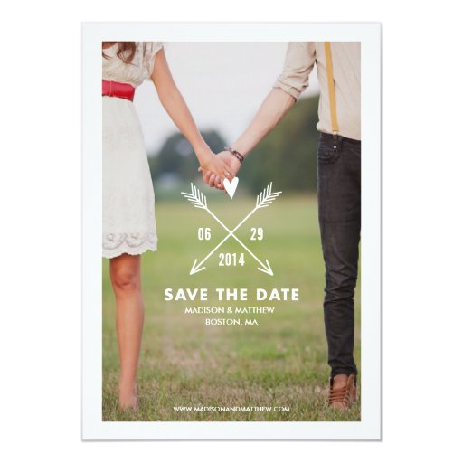 Hipsters Save the Date Announcement
