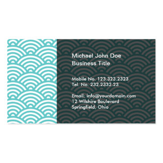 Hiragami Wave Pattern Japanese Style Business Card Template