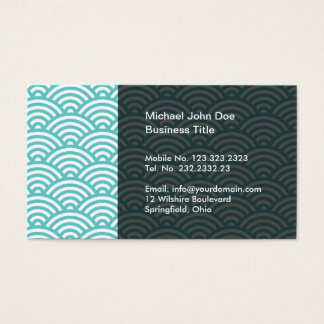 Hiragami Wave Pattern Japanese Style Business Card