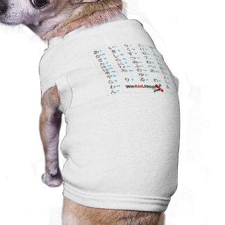 Hiragana Chart ひらがな表 Pet Tee Shirt