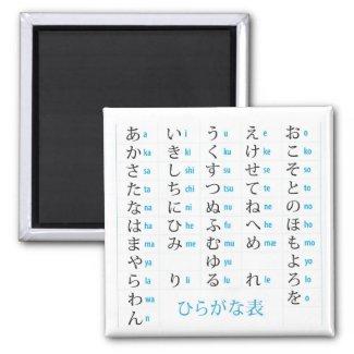 Hiragana Chart Magnet