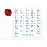 Hiragana Chart Postcard