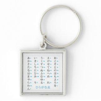 Hiragana Chart Premium Keychain