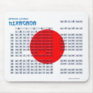 Hiragana Japanese Alphabet Mousepad (Flag)