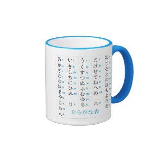 Hiragana & Katakana Chart Ringer Mug