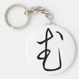 """Hiragana """"Mu"""" Basic Round Button Keychain"""