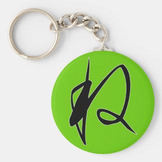 "Hiragana ""Ne"" Basic Round Button Keychain"