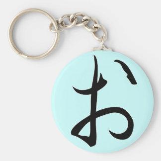 "Hiragana ""O"" Keychain"