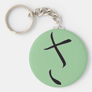 """Hiragana """"Sa"""" Basic Round Button Keychain"""