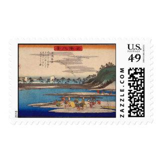 Hirakata, Kanazawa by Hiroshige Postage