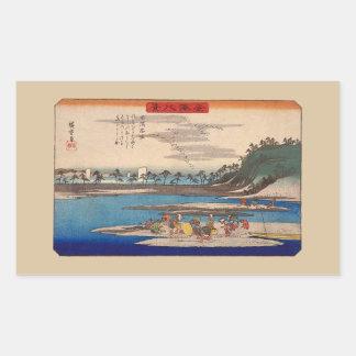 Hirakata, Kanazawa by Hiroshige Stickers