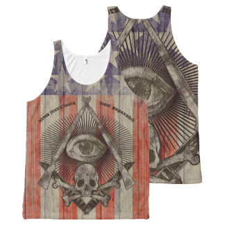 Hiram Abiff Freemason with American colors All-Over Print Tank Top
