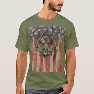 Hiram Abiff Freemason with American colors Shirt