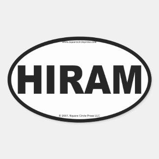 HIRAM Oval Stickers
