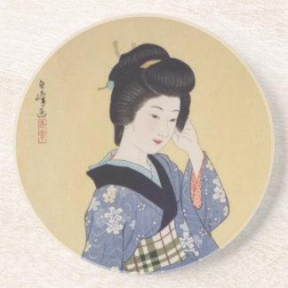 Hirano Hakuho's Young Girl Drink Coaster