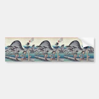 Hiratsuka by Ando, Hiroshige Ukiyoe Bumper Sticker
