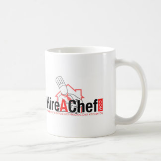 Hire A Chef - faded background.jpg Classic White Coffee Mug