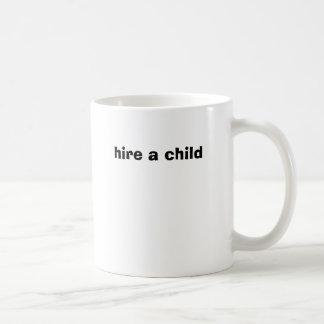 hire a child, devil's advocate classic white coffee mug