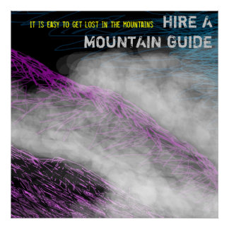 Hire a Mountain Guide poster