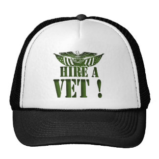 HIRE A VET HELP OUR HEROES ! MILITARY GEAR TRUCKER HAT