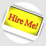 Hire me! stickers