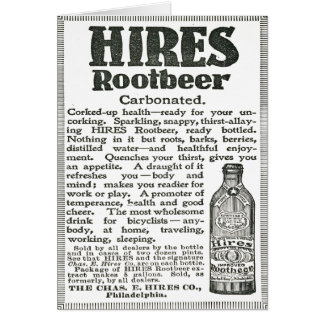 Hire Root Beer Black and White Advertisement Greeting Card