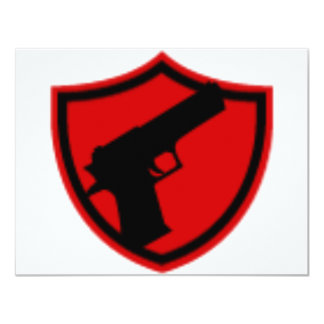 Hired GUNS 4.25x5.5 Paper Invitation Card
