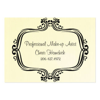 HiRes, Make-up Artist, Cheris Homchick Large Business Cards (Pack Of 100)
