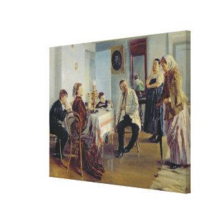 Hiring of a Maid, 1891-92 Canvas Print
