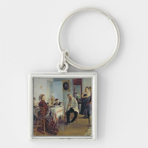 Hiring of a Maid, 1891-92 Keychain
