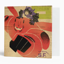 Avery Signature 1' Binder with Big Hero 6 Propaganda Style design