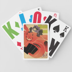 Playing Cards with Big Hero 6 Propaganda Style design