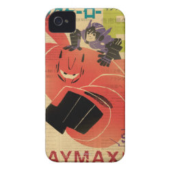 Case-Mate iPhone 4 Barely There Universal Case with Big Hero 6 Propaganda Style design