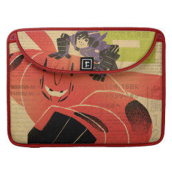 Macbook Pro 15' Flap Sleeve with Big Hero 6 Propaganda Style design